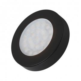 LED OPRAWA OVAL z dystansem czarna 2W biała zimna