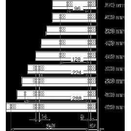 PROWADNICA TANDEM 550H.4500B CZĘŚCIOWY WYSUW 30kg