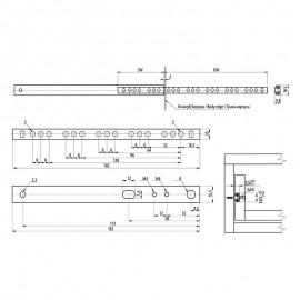 Prowadnica GTV kulkowa H17 długość 214