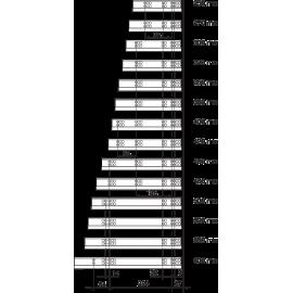 PROWADNICA TANDEM 560H3000C PEŁNY WYSUW BEZ BLUMOTION 30kg