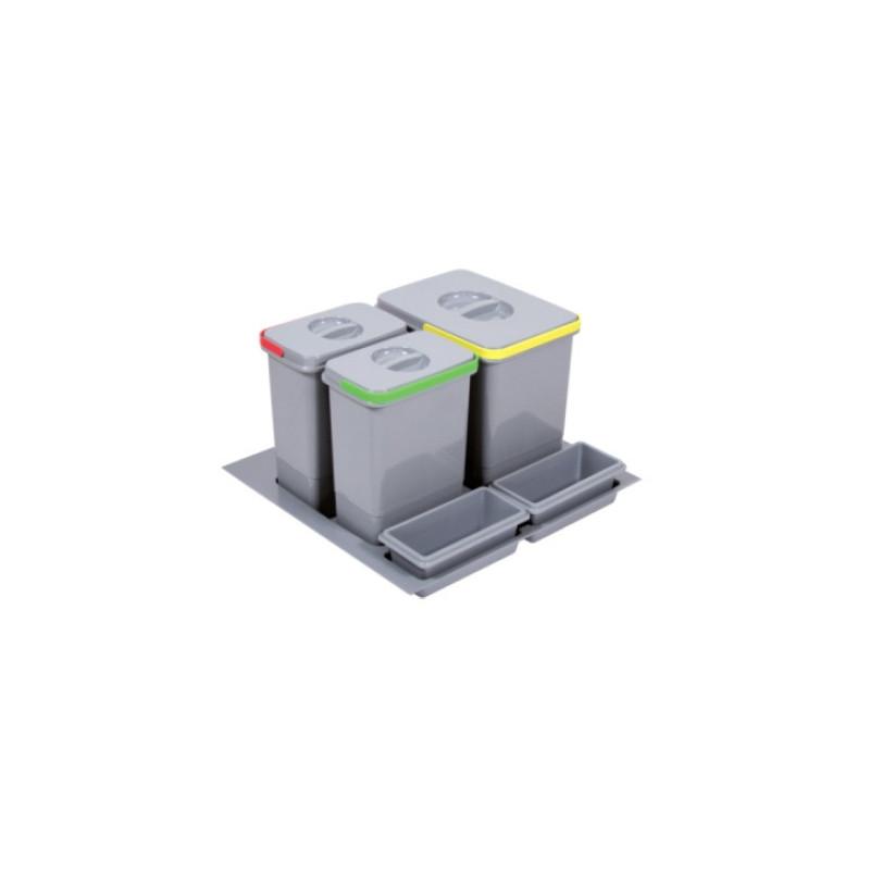 Pojemnik na śmieci Practiko 60 potrójny 1x15l + 2x7l