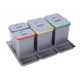 Pojemnik na śmieci Practiko 80 poczwórny 2x15l + 2x7l