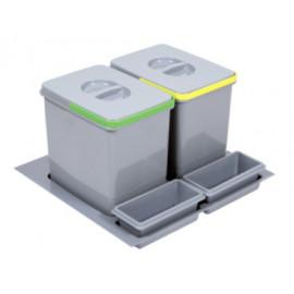 Pojemnik na śmieci Practiko 60 podwójny 2x15l