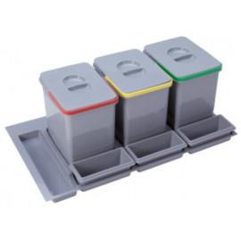 Pojemnik na śmieci Practiko 90 potrójny 3x15l