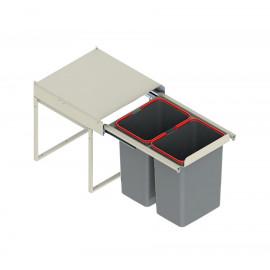 Pojemnik na śmieci 45 JC607 2x15l niski