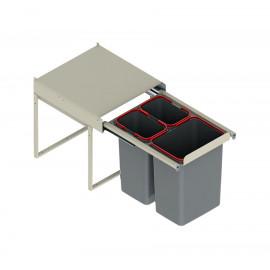 Pojemnik na śmieci 45 JC606 2x9l/1x20l wysoki