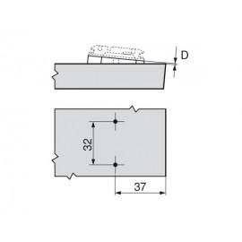 Blum podkładka kątowa +5° 171A5040