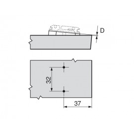 Blum podkładka kątowa +5° 171A5070
