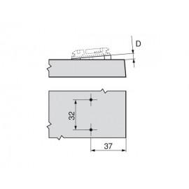 Blum podkładka kątowa -5° 171A5500