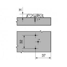 Prowadnik Blum krzyżakowy 173L6100 H-0