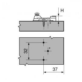 Prowadnik Blum krzyżakowy 193L6100 H-0