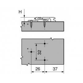Prowadnik Blum krzyżakowy 175H7190 H-9