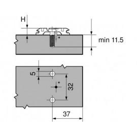 Prowadnik Blum krzyżakowy 173L8100 H-0 Euro