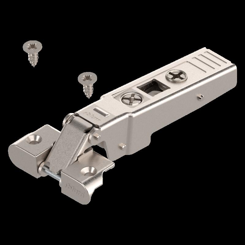 Zawias Blum clip 71T950A do ramek aluminiowych, drzwi nakładane