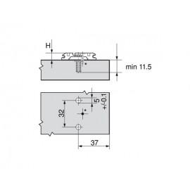 Prowadnik Blum krzyżakowy z mimośrodem 174H7100E Expando H-0