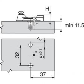 Prowadnik Blum krzyżakowy 194E6100 EXPANDO
