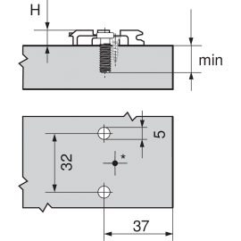 Prowadnik Blum krzyżakowy CLIP  175L8190.21 H-11 euro