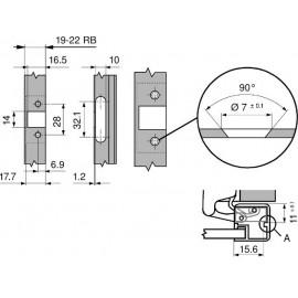 Zawias Blum clip 79A9608AT - 45' do ramek aluminiowych