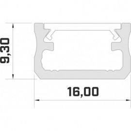 LED LUMINES profil aluminiowy typ A, czarny L-L