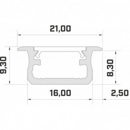 LED LUMINES profil aluminiowy typ B, biały L-L