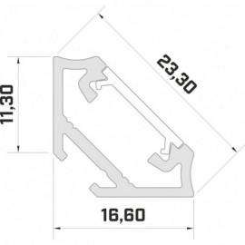 LED LUMINES profil aluminiowy typ C, srebrny L-L