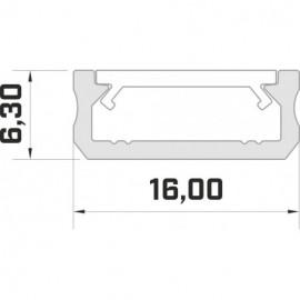 LED LUMINES profil aluminiowy typ D, czarny L-L