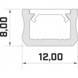LED LUMINES profil aluminiowy typ X, 3 mb, czarny L-L