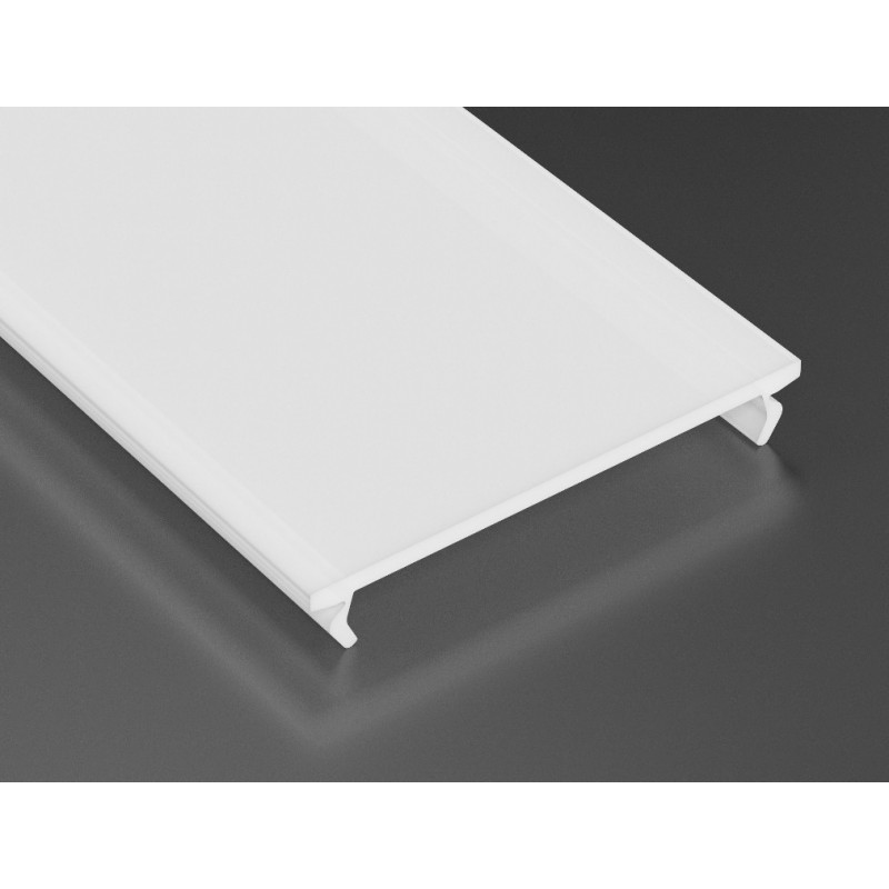 LED LUMINES klosz wide do profilu, 3 mb, mleczny  L-L
