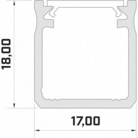 LED LUMINES profil aluminiowy typ Y, 3 mb, czarny L-L