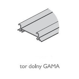 Tor dolny GAMA nr. 82096 czarny połysk