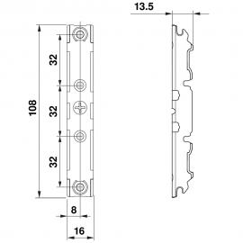 BLUM - symetryczne mocowanie frontu 20S4200 do Aventos