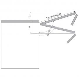 BLUM ogranicznik kąta otwarcia 104' do Aventosa HF 20F7051