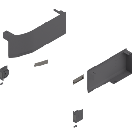 BLUM zaślepki do aventosa HK top z servo-drive 23K8000 antracyt