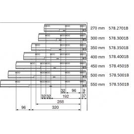 Prowadnica tandembox 578.2701B 30kg L+P