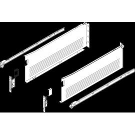 Metabox BLUM 320H4500C15 MX, częściowy wysuw, wysokość H- 150 mm, kremowa