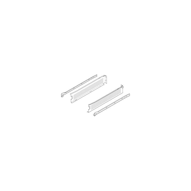 Metabox BLUM 320M5000C15 MX, częściowy wysuw, wysokość H- 86 mm, szary