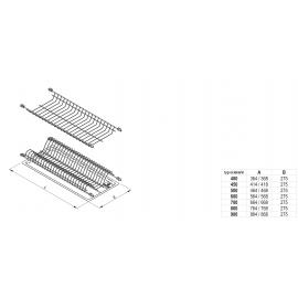 Ociekarka do naczyń 60 standard 1 biała