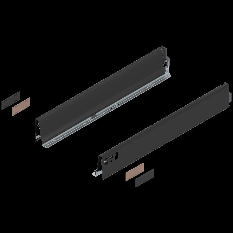 Bok szuflady tandembox wys. M, dł. 550mm, czarny 378M5502SA lewy/prawy