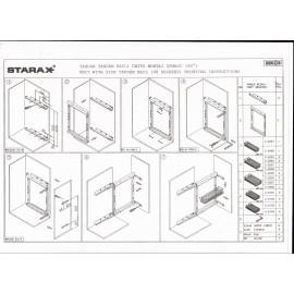 Starax cargo 40/3 poziomy lewe chrom S-2794