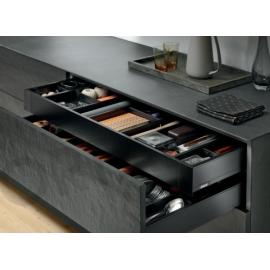 LEGRABOX front do szuflady wewnętrznej z relingiem poprzecznym ZV7.1043C01 czarny