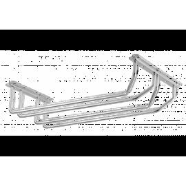 Wieszak na kieliszki 2-rzędowy chrom