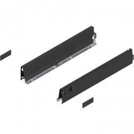 Bok szuflady tandembox wys. M, dł. 600mm, czarny 378M6002SA lewy/prawy