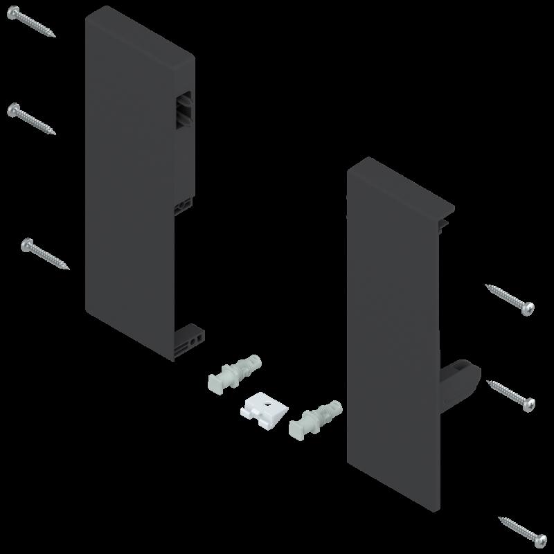 Mocowanie frontu szuflady wewnętrznej tandembox lewe/prawe ZIF.74C0 czarne