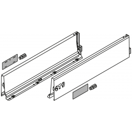 Bok szuflady tandembox wys. K, dł. 450mm, szary 378K4502SA lewy/prawy