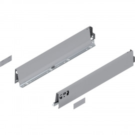 Bok szuflady tandembox wys. M, dł. 650mm, szary 378M6502SA lewy/prawy