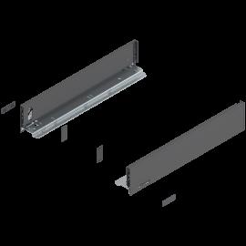 Bok szuflady legrabox wys. M, dł. 450mm, antracyt 770M4502S lewy/prawy