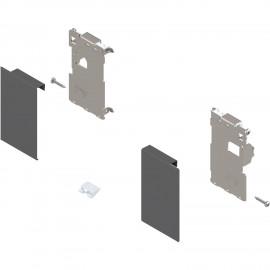 Zestaw mocowań frontu szuflady wewnętrznej legrabox ZI7.0MS0 antracyt