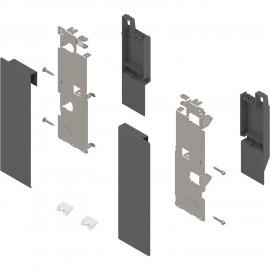 Zestaw mocowań frontu szuflady wewnętrznej legrabox ZI7.3CS0 antracyt