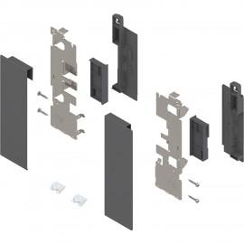 Zestaw mocowań frontu szuflady wewnętrznej legrabox ZI7.2CS0 antracyt