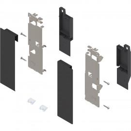 Zestaw mocowań frontu szuflady wewnętrznej legrabox ZI7.3CS0 czarny